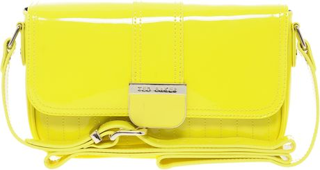 Ted Baker Skapari Patent Crossbody Bag in Yellow (76brightyellow) - Lyst