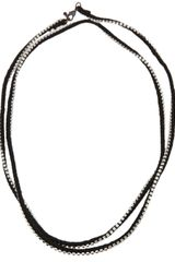 Alyssa Norton Rhinestone Wrap Necklace - Lyst