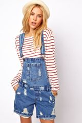 ASOS Collection  Denim Dungarees - Lyst