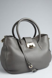 Jimmy Choo Grey Leather Rania Convertible Tote - Lyst
