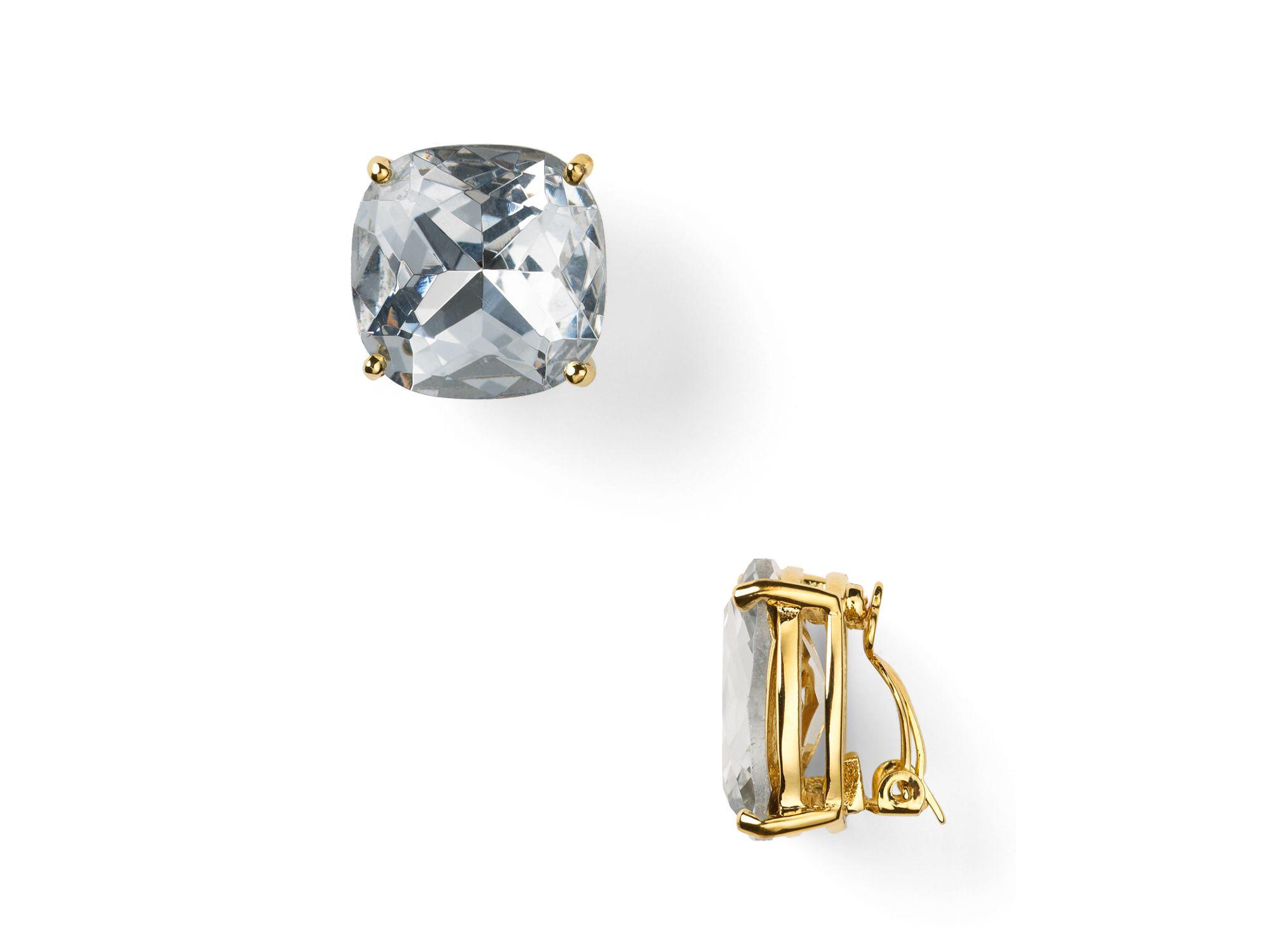 Lyst Kate Spade Large Clip Earrings In Metallic