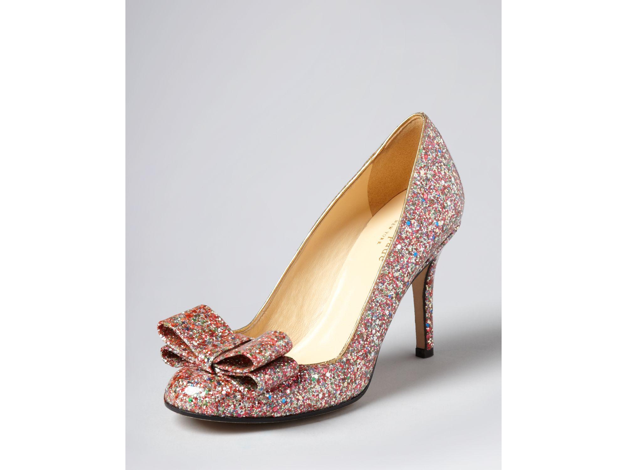 39db569dace2 Lyst - Kate Spade Pumps Krysta Bow Glitter