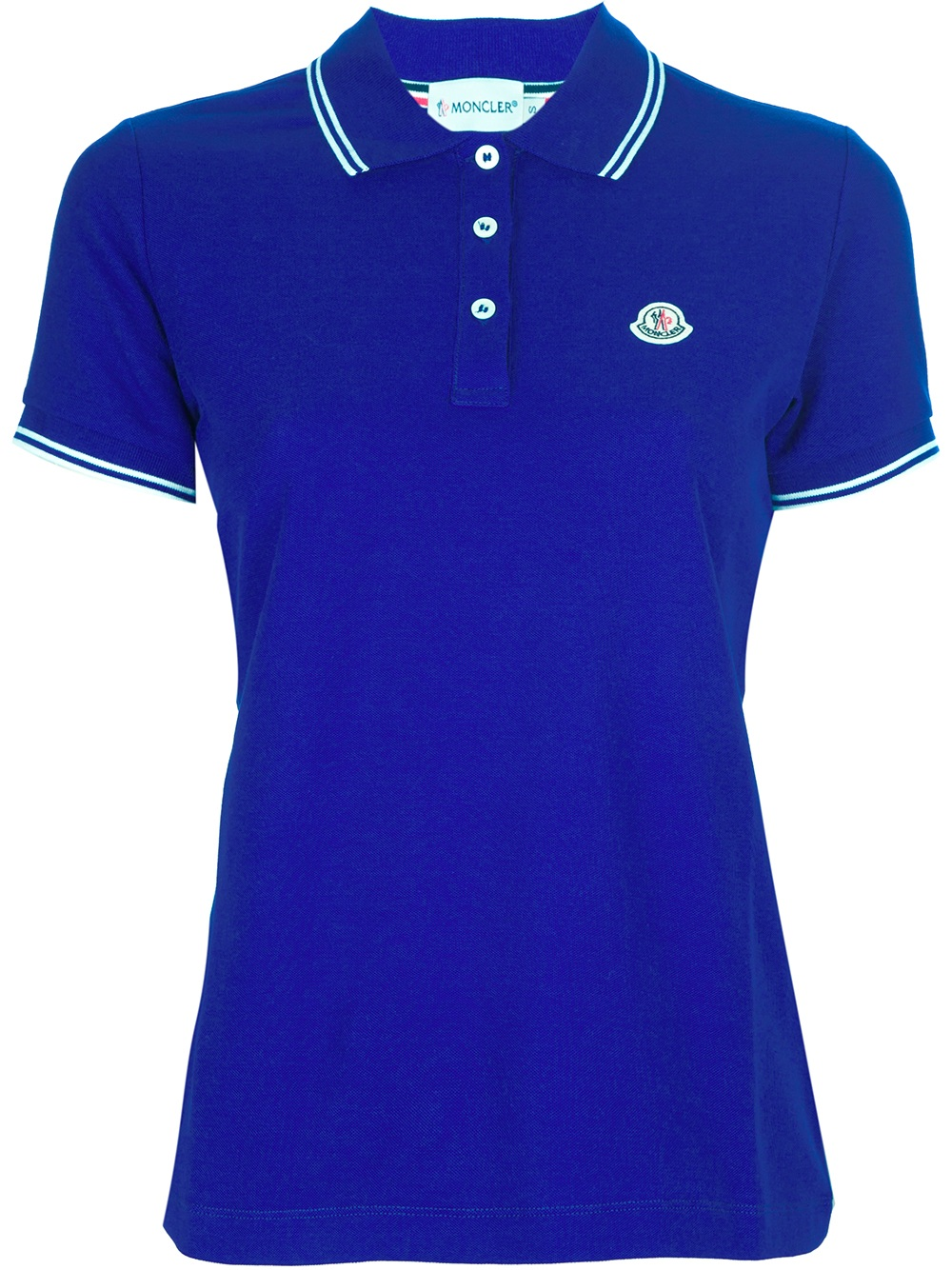 Moncler Polo Shirt In Blue Lyst