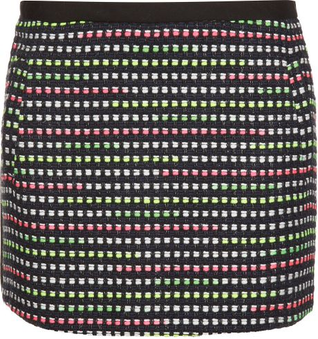 Topshop Fluro Boucle Pelmet Skirt in Green (multi bright) - Lyst
