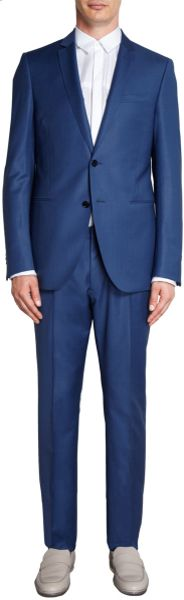 Fendi Steel Melange Twopiece Suit in Blue for Men (steel) - Lyst