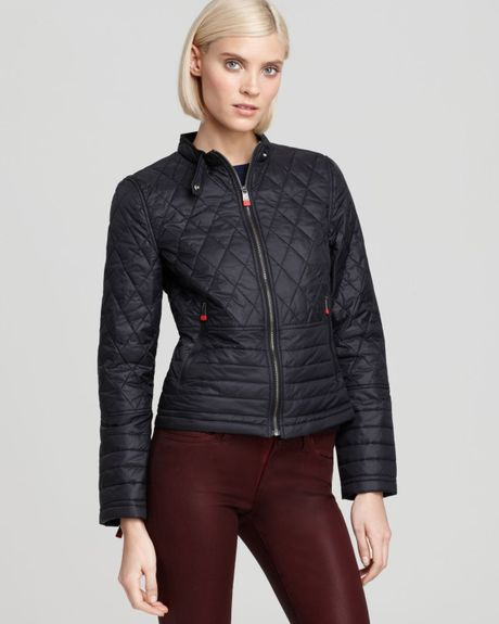 Hunter Hunter Quilted Moto Jacket In Black Lyst