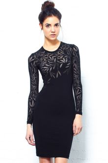 Long Sleeve Black Lace Dress on Jonathan Saunders Long Sleeve Devor   Dress In White   Lyst