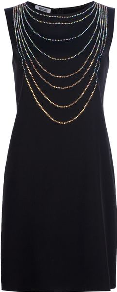 Moschino Cheap & Chic Embellished Dress in Black - Lyst
