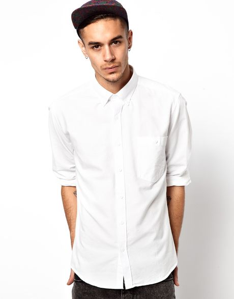Barbour Shirt With Button Down Collar In White For Men Lyst
