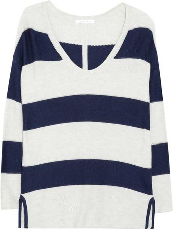 Duffy Striped Cottonblend Sweater - Lyst