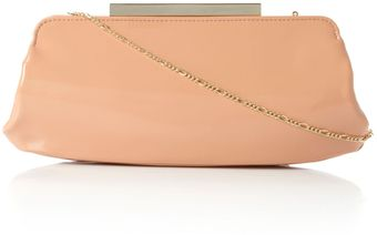 Dune Bayley Patent Leather Clutch Bag - Lyst