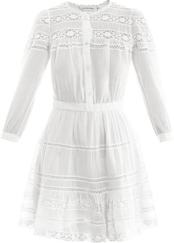 Etoile Isabel Marant Greta Cottonvoile and Lace Dress - Lyst
