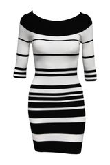 Jane Norman Stripe Colour Block Knitted Dress - Lyst