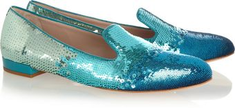 Miu Miu Dégradé Sequined Slippers - Lyst