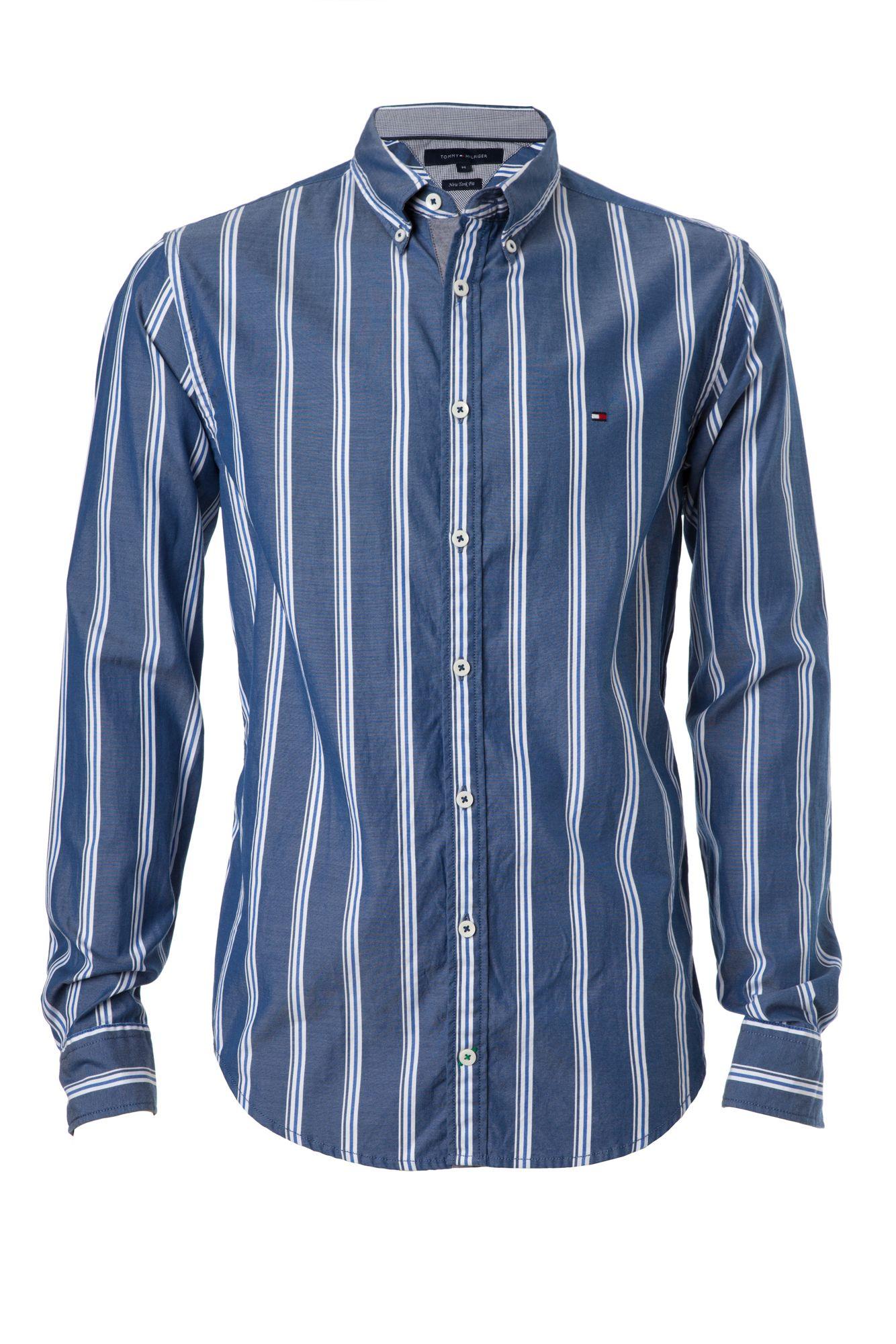 tommy hilfiger reno stripe shirt in blue for men lyst. Black Bedroom Furniture Sets. Home Design Ideas