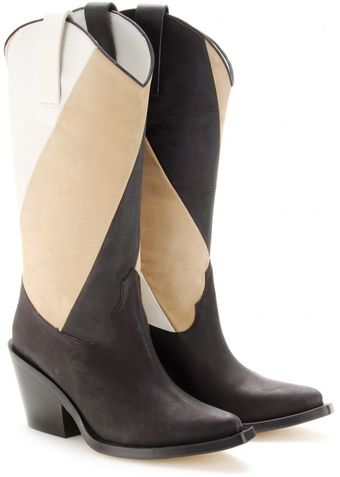 Acne Brush Ray Leather Cowboy Boots - Lyst