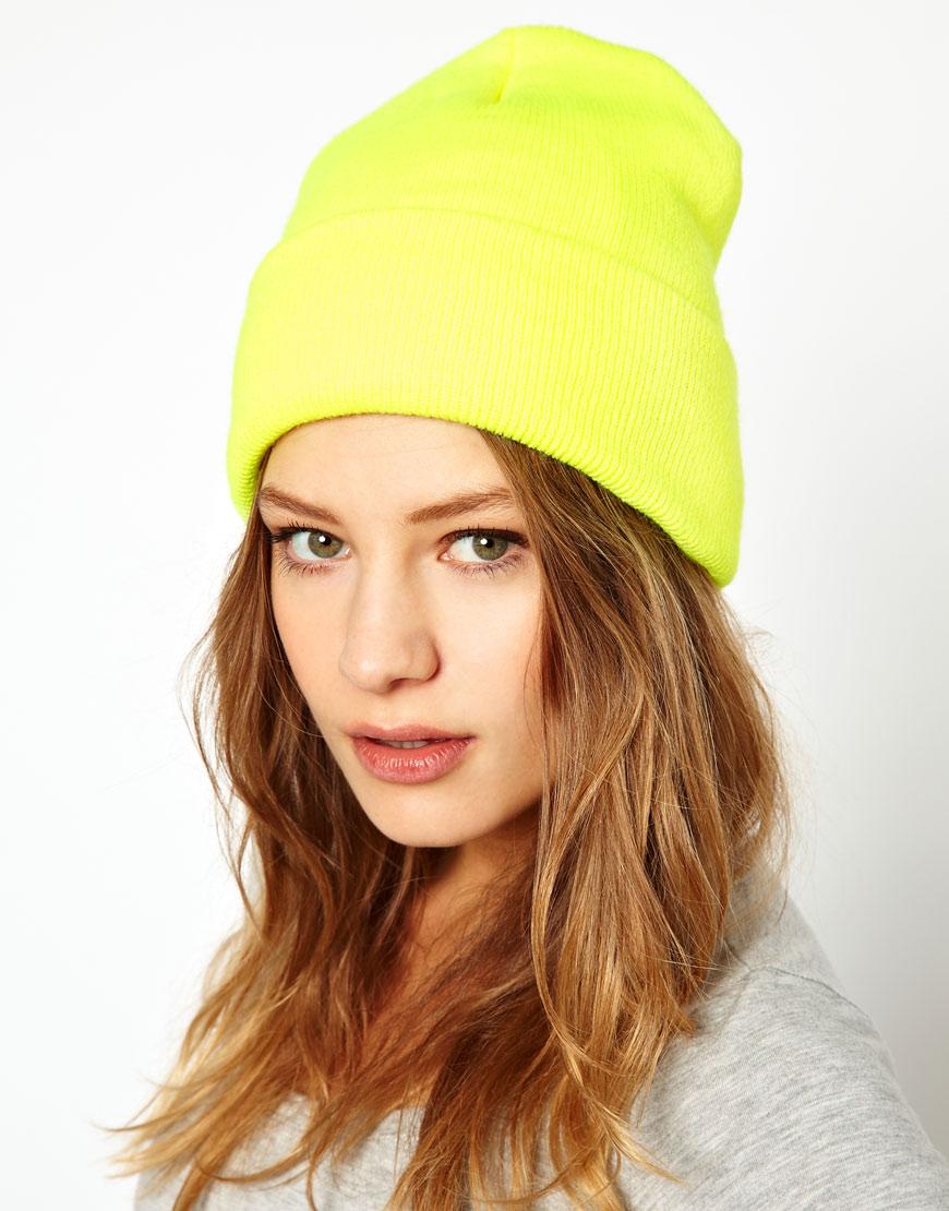 168edfc2a6822 American Apparel Neon Cuffed Beanie in Yellow - Lyst
