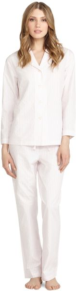 Brooks Brothers Rope Stripe Classic Pajamas - Lyst