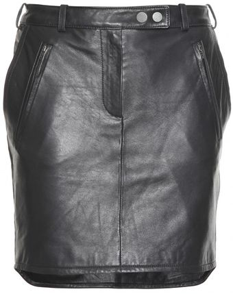 Carven Leather Mini Skirt - Lyst
