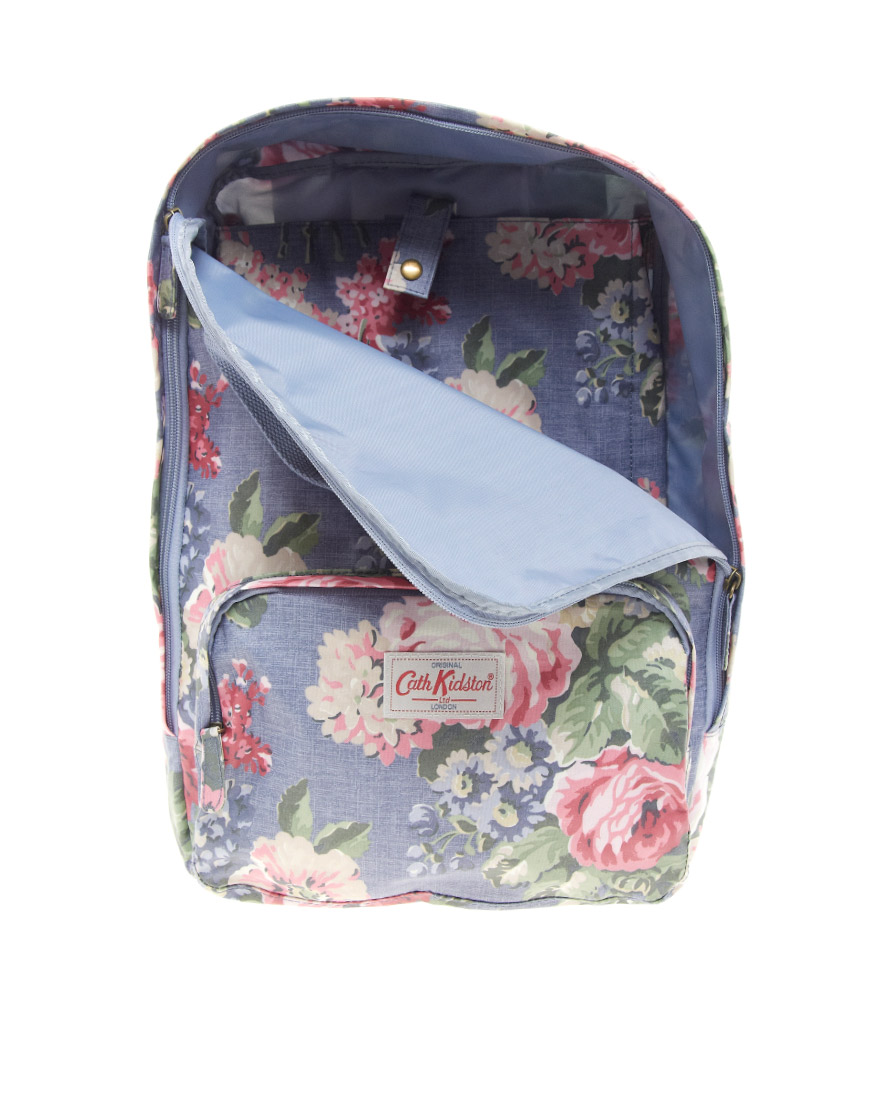 81e176387f Lyst - Cath Kidston Floral Backpack in Purple