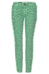 Current/Elliott The Ankle Skinny Print Jeans - Lyst