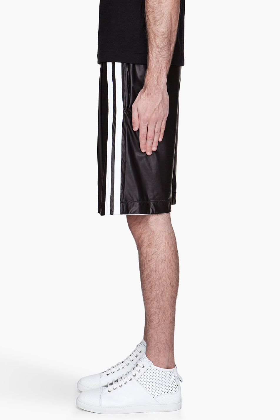 Denis gagnon Black White Striped Basketball Shorts in Black for ...