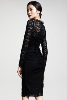 Dolce & Gabbana Long Sleeve Lace Dress - Lyst
