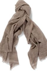 Dolce & Gabbana Check Cotton Scarf - Lyst