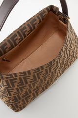 Fendi Large Canvas Shoulder Bag - Lyst