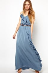 Jarlo Belted Maxi Dress with Frill Detail - Lyst