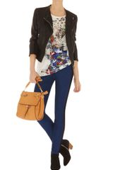 Karen Millen Animal and Flower Print Tshirt - Lyst