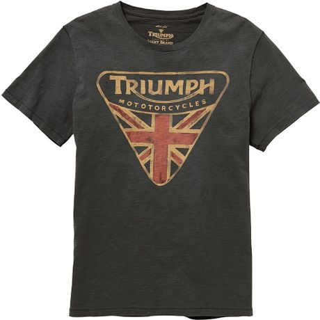 Lucky Brand Triumph Badge T Shirt In Gray For Men Coal