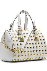 Michael by Michael Kors Medium Grayson Studded Satchel - Lyst