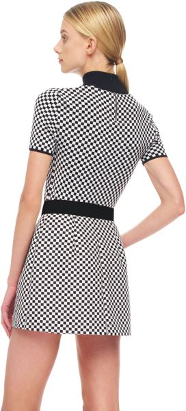 Michael Kors Optic Check Miniskirt - Lyst