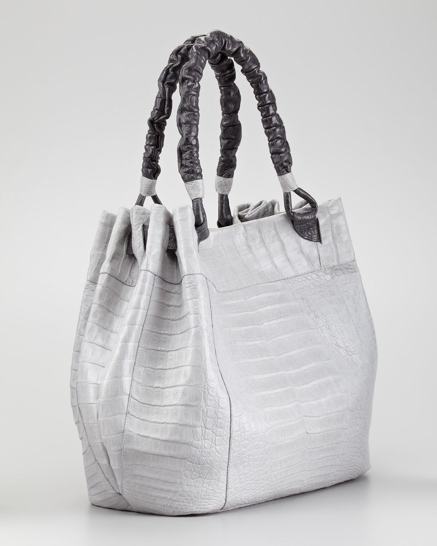 Nancy gonzalez Crocodile Hobo Bag in Metallic | Lyst