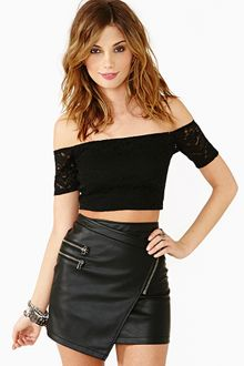 Nasty Gal Lace Crop Top - Lyst