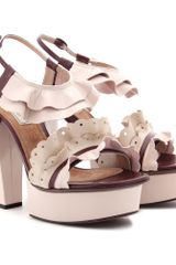 Nina Ricci Patent Leather Platform Sandals - Lyst