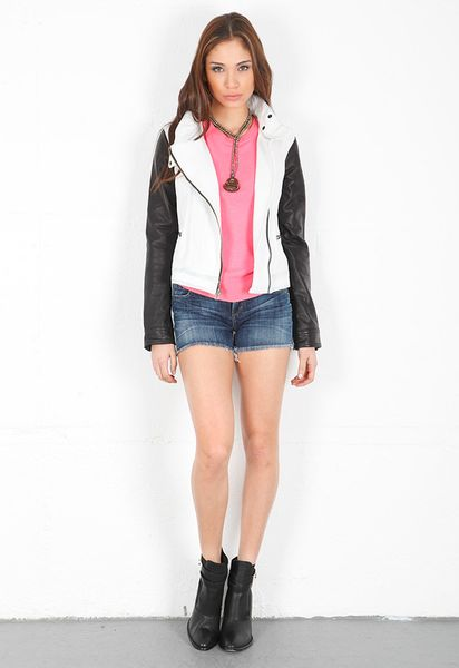 Rag & Bone Moto Jacket in White - Lyst