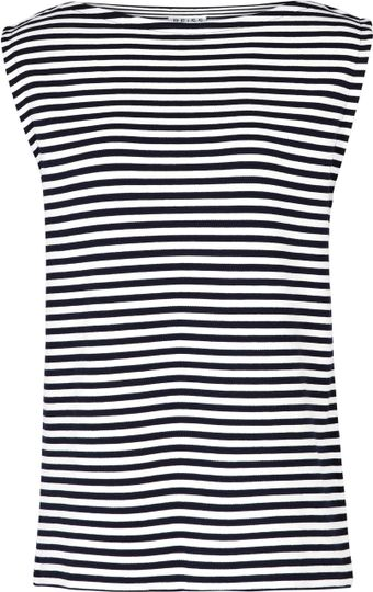 Reiss Gwen Stripe Sleeveless Tank - Lyst