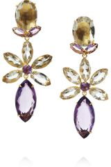 Bounkit Goldplated Amethyst Clip Earrings - Lyst