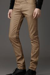 Burberry Shoreditch Skinny Fit Jeans in Brown for Men (trench) - Lyst