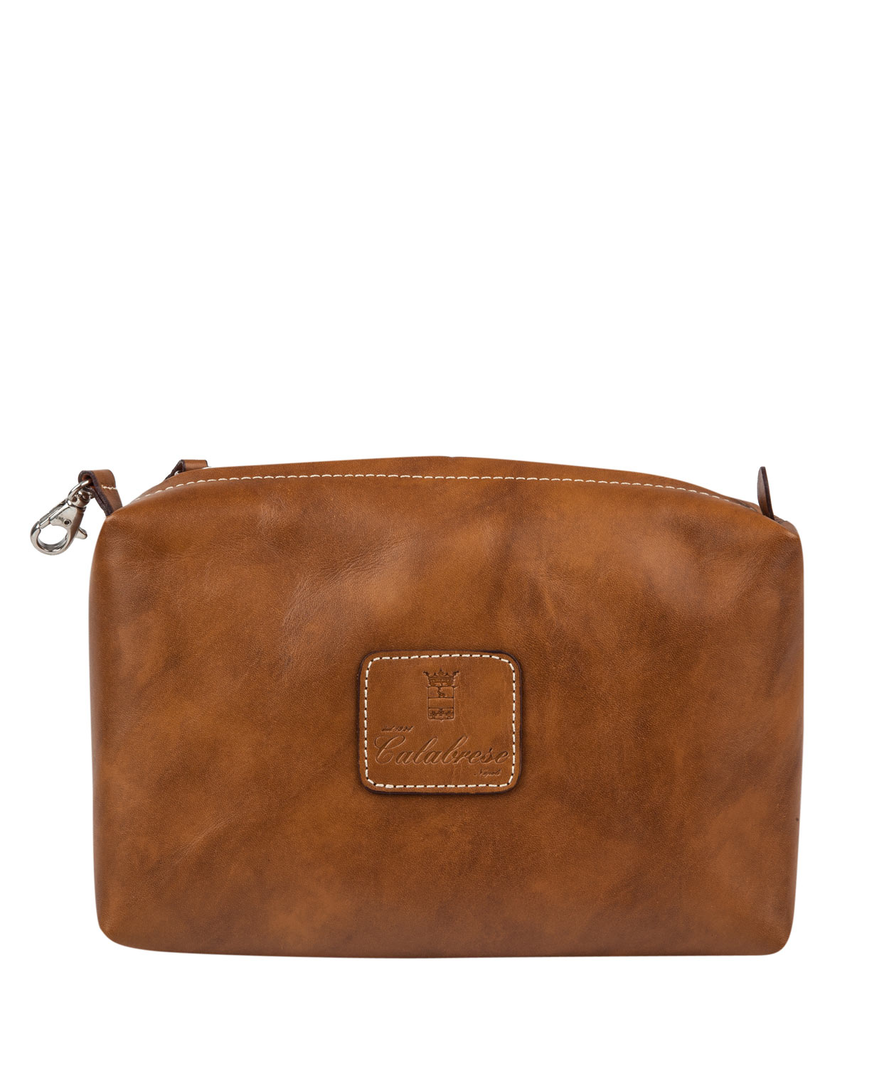 Lyst - Calabrese Bags Brown Gajola Medium Leather Wash Bag ...