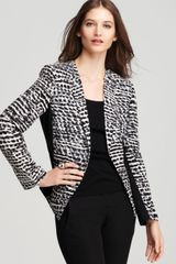 Calvin Klein Collarless One Button Jacket - Lyst