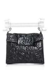 Christopher Kane Baby Frankenstein Embossed Flower Leather Clutch - Lyst