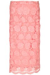 Christopher Kane Lace Pencil Skirt - Lyst