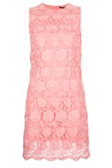 Christopher Kane Lace Shift Dress - Lyst