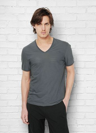 John Varvatos Bias Cut Vneck Knit - Lyst