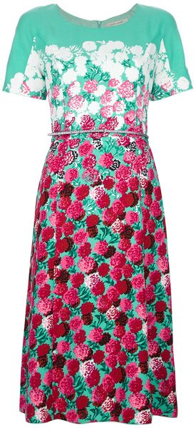 Marc Jacobs Floral Shift Dress - Lyst