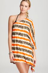 Michael by Michael Kors Michael Michael Kors Cover Up Tribal Stripe One Shoulder - Lyst