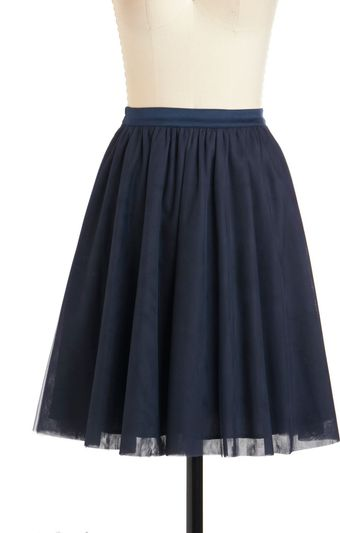 ModCloth Heart and Pas Seul Skirt in Navy - Lyst